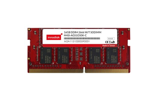 Innodisk 2666 DDR4 Wide Temperature Registered DIMM is now available from 4GB to 16GB