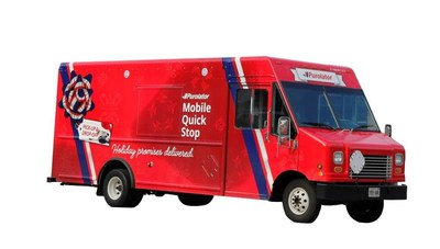 Purolator's new Mobile Quick Stop service – the first of its kind in Canada – provides consumers, online retailers and businesses exceptional convenience and customer service when delivering to and picking up packages this holiday season. (CNW Group/Purolator Inc.)