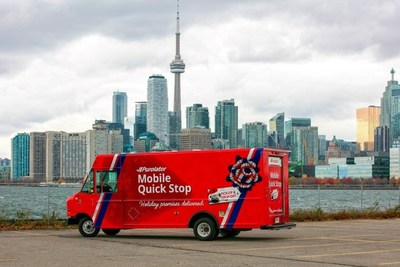 Purolator's new Mobile Quick Stop service – the first of its kind in Canada – operates as a convenient package pickup spot for customers, Monday to Friday from 3 to 8 p.m. Greater Toronto Area locations: Scarborough GO Station; 410 Taunton Road W., Whitby; 30 Fraser Ave., Toronto and One York, 110 Harbour St., Toronto (1 to 8 p.m., kiosk). (CNW Group/Purolator Inc.)