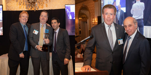 Celebrating at The Cannata Report's 33rd Annual Awards & Charities Dinner are (from left to right): Scott Cullen, editor-in-chief, The Cannata Report; Shane Coffey, vice president, product management, Sharp Imaging and Information Company of America; CJ Cannata, EVP/publisher, The Cannata Report; Joseph Burt, vice president, development, Hackensack University Medical Foundation; and Frank Cannata, president and CEO, The Cannata Report.