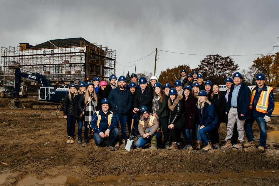 Minto Communities Canada Construction Team at the Glen Agar Groundbreaking Ceremony (CNW Group/The Minto Group)
