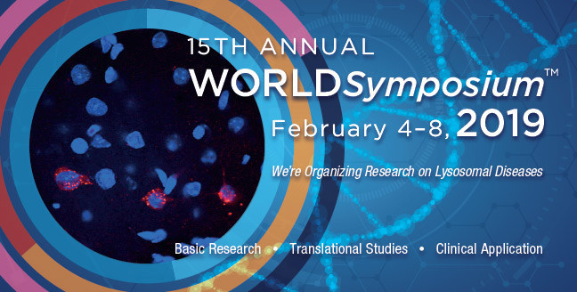 We're Organizing Research on Lysosomal Diseases -- Please join us at the 15th Annual WORLDSymposium February 4 - 8, 2019 in Orlando, Florida. (PRNewsfoto/WORLDSymposium)