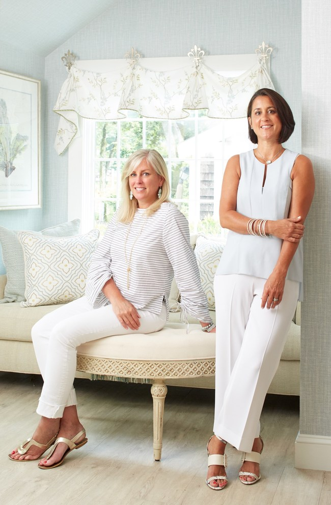 Shannon Heritage (left) and Michele Chagnon-Holbrook (the firm's founder and principal designer)