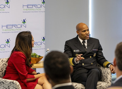 Nation's top doctor, U.S. Surgeon General, Dr. Jerome M. Adams, was at Heron Therapeutics this week discussing the importance of opioid alternatives.