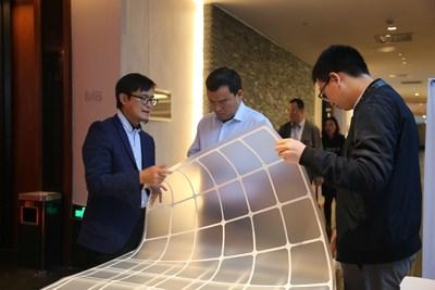 Novo painel de malha transparente (PRNewsfoto/Jolywood (Taizhou) Solar Techno)