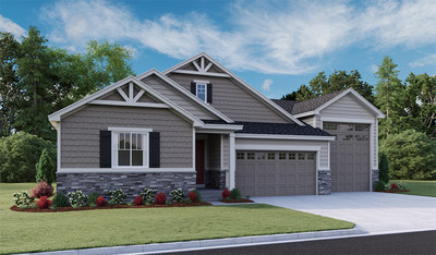 Rendering of the Harris floor plan, featuring an attached RV garage.