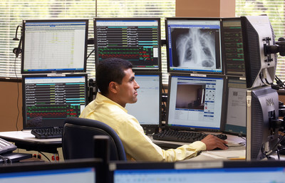 Philips eICU program combines predictive analytics, data visualization, and advanced reporting capabilities to deliver vital information to bedside caregivers.