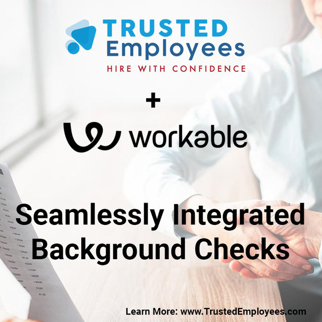 Seamlessly Integrated Background Checks