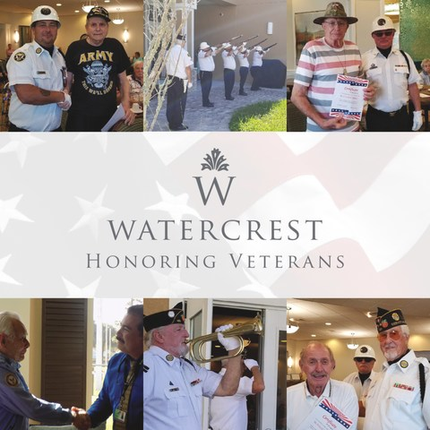 Watercrest Senior Living Group respectfully honors all military veterans and their spouses who served in the United States Armed Forces and recognizes their service through a variety of Veterans Appreciation events this month.