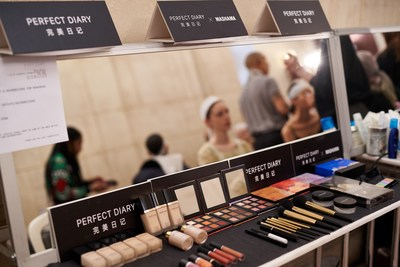 Chinese cosmetics brand Perfect Diary debuts at the MASHAMA 2019 Spring/Summer show during Paris Fashion Week