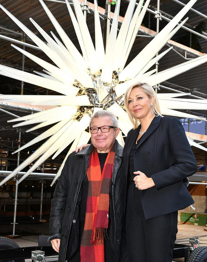 Nadja Swarovski and Daniel Libeskind. Credit Bryan Bedder Getty for Swarovski (PRNewsfoto/Swarovski)