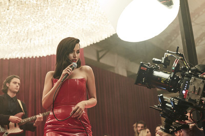 Ana De Armas in her latest role for the 2019 Campari Red Diaries short movie, Entering Red, directed by Matteo Garrone and set in Milan
