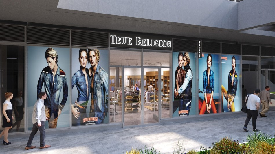 True Religion and Cotton On will open new stores alongside other designer retailers and an artisanal food hall at Empire Outlets -- New York City's first and only outlet center.