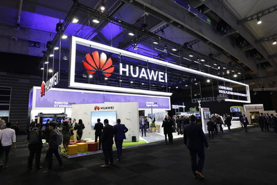 he Smart City Expo World Congress (SCEWC) 2018 is being held in Barcelona, Spain, the Huawei's booth is located above.