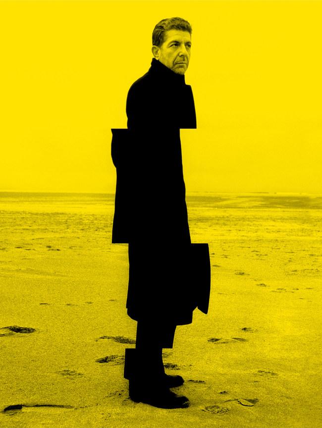 Leonard Cohen, Trouville 1988. Photo: Claude Gassian (CNW Group/Musée d'art contemporain de Montréal)