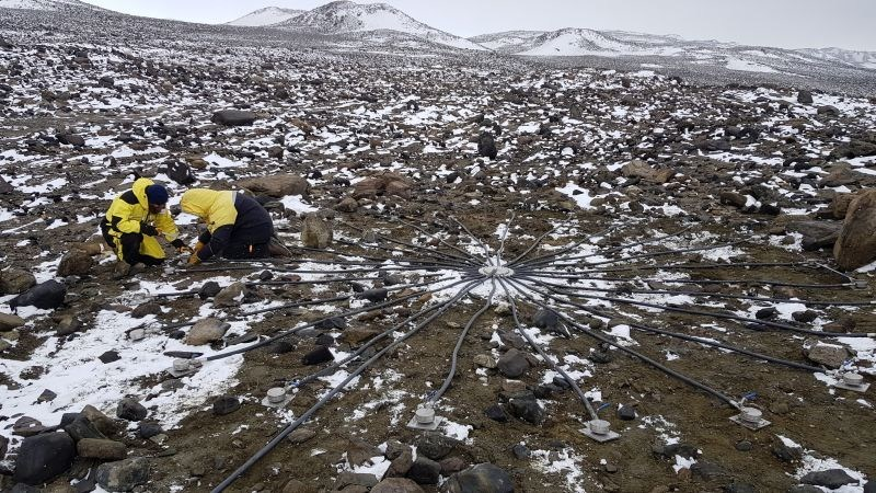 """Installing Australia's infrasound station """"IS03"""" in Davis Base, Antarctica. It is among nearly 300 CTBTO nuclear test monitoring stations, feeling and sniffing the Earth for any signs of a nuclear explosion. (PRNewsfoto/CTBTO)"""
