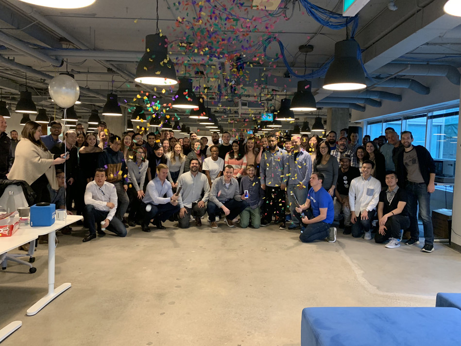 The Connected team celebrating the new promotions (CNW Group/Connected)