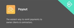 Introducing Payout: The easiest way to remit payments to owner clients & contractors. (PRNewsfoto/iReach House Account)