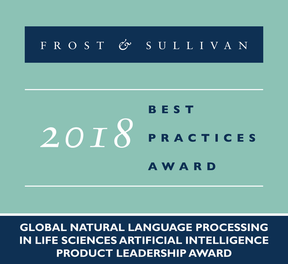 2018 Global Natural Language Processing in Life Sciences Artificial Intelligence Product Leadership Award