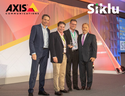 Siklu named partner of the year by Axis