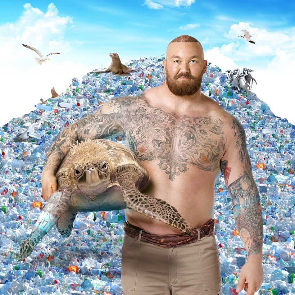 "SodaStream's new environmental campaign, which stars Sir Rod Stewart and Thor ""The Mountain"" Bjornsson calls upon consumers to go reusable."