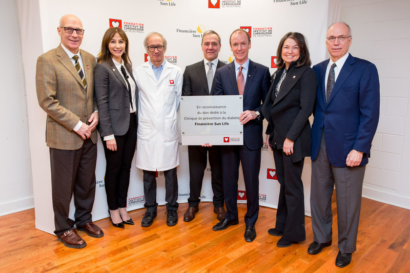 On World Diabetes Day, Sun Life Financial made a donation of $450,000 for the creation of the Diabetes Prevention Clinic supported by Sun Life Financial at the Montreal Heart Institute. (CNW Group/Sun Life Financial Canada)