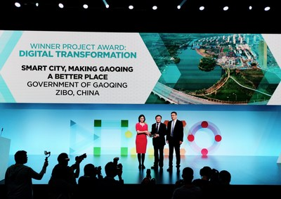Gaoqing, de la Chine, remporte le prix de la transformation numérique (Digital Transformation Award) (PRNewsfoto/Huawei)
