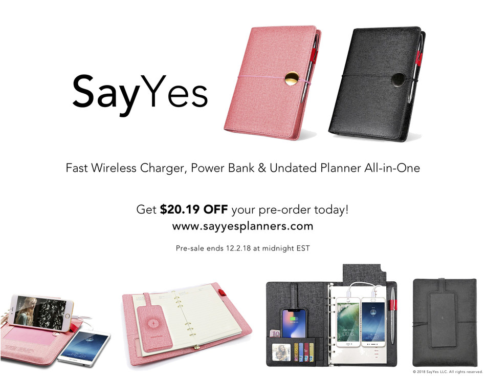 SayYes Planners Pre-Order Promo Sale