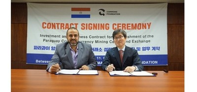 Majed Mohanna, Chairman of the joint venture institute in Paraguay 'SISAY SOCIEDAD ANONIMA' has signed a contract with the Chief of the Commons Foundation, 'Choi Yong-Kwan' for Investing and working contracts for the establishment of Paraguay Cryptocurrency mining centre and Global Cryptocurrency Exchange.