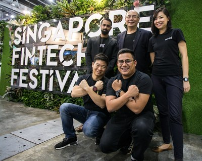 The Pundi X team in Singapore Fintech Festival