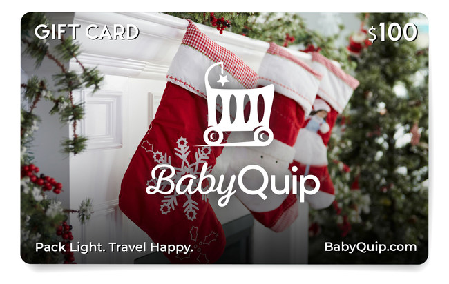 BabyQuip introduces a Travel Happy gift card to help families pack light and more easily navigate busy airports this holiday season. A new survey indicates that 29% of parents are likely to be stressed about packing for upcoming family vacations, while 23% are concerned about not having the baby equipment they need at their destination to relax and fully enjoy their holiday.