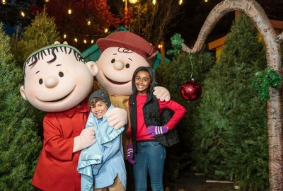 """""""Charlie Brown's Christmas Tree Lot"""" is one of the dozens of attractions that Boys and Girls Clubs of America members may experience at WinterFest events across select Cedar Fair parks."""