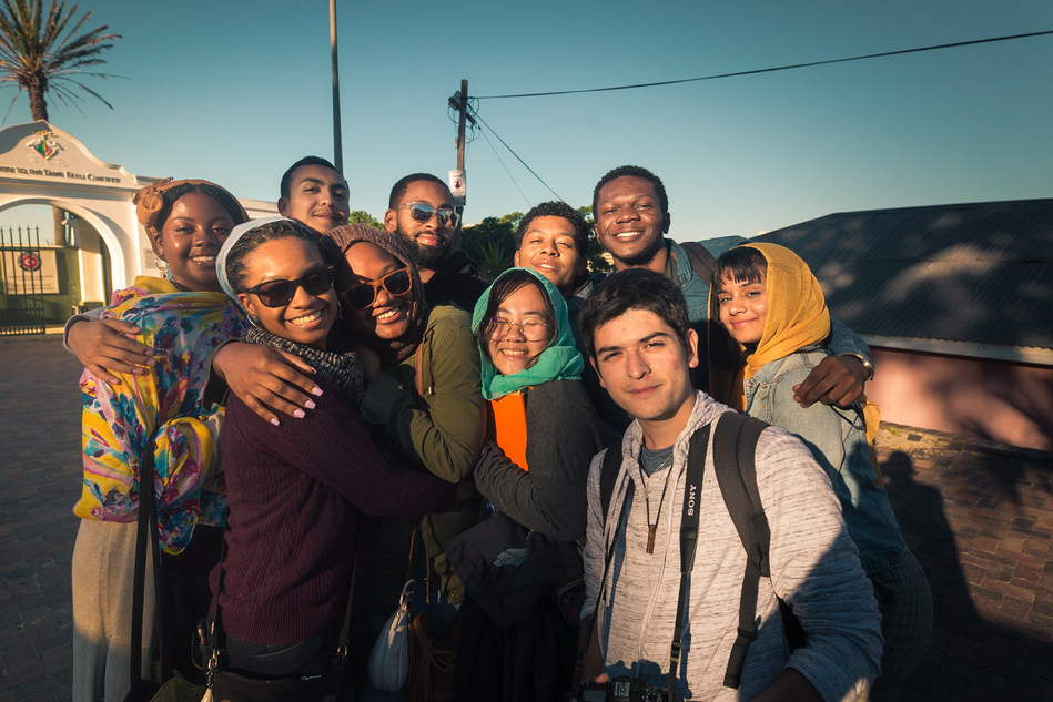 The second cohort of Frederick Douglass Global Fellows who studied in Cape Town in the summer of 2018.