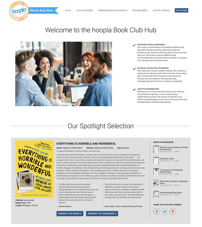 hoopla digital launches digital resource to start and support a book club