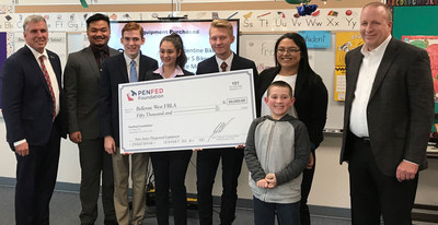 PenFed Foundation Donates $50,000 to Bellevue West High School Students' Project to Build Playground for Peter Sarpy Elementary Students