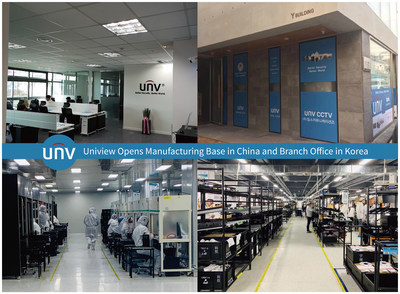 Uniview Opens Manufacturing Base in China and Branch Office in Korea