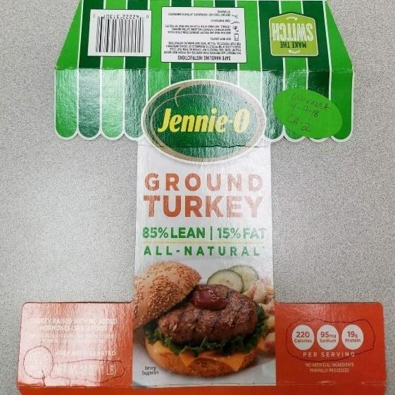 Jennie-O GROUND TURKEY 85% LEAN | 15% FAT (PRNewsfoto/Jennie-O Turkey Store)