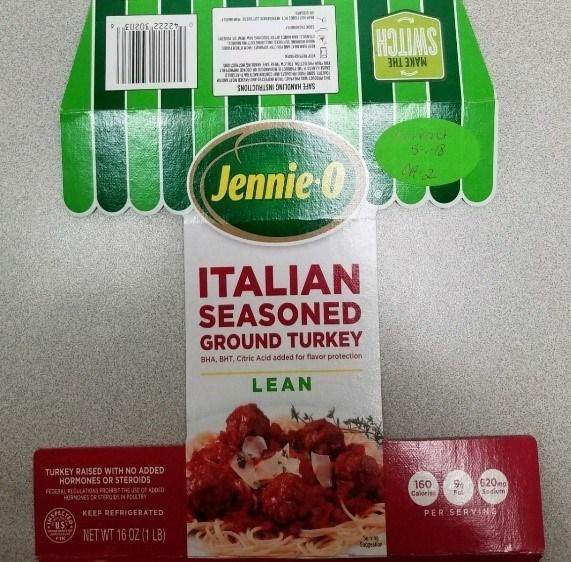 Jennie-O ITALIAN SEASONED GROUND TURKEY (PRNewsfoto/Jennie-O Turkey Store)