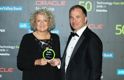 Ieso Digital Health winners of 2018 Deloitte Fast 50 Awards Maddy Kennedy CFO and Dan Clark CEO (PRNewsfoto/Ieso Digital Health)