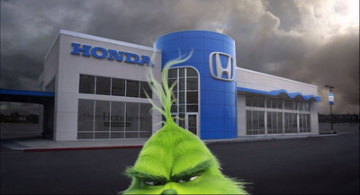 UNhappy Honda Days: Universal Pictures and Illumination's Dr. Seuss' The Grinch Steals Honda Holiday Campaign
