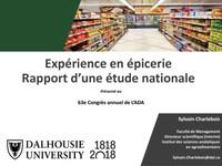 Expérience en épicerie - Rapport d'une étude nationale (Groupe CNW/Association des détaillants en alimentation du Québec (ADA))