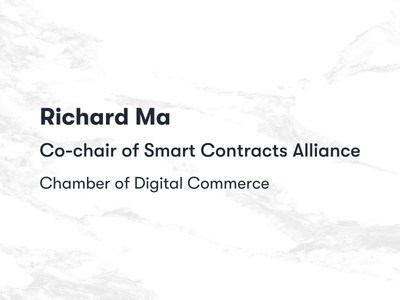Quantstamp CEO Richard Ma Joins Co-chair of Smart Contracts Alliance Chamber of Digital Commerce