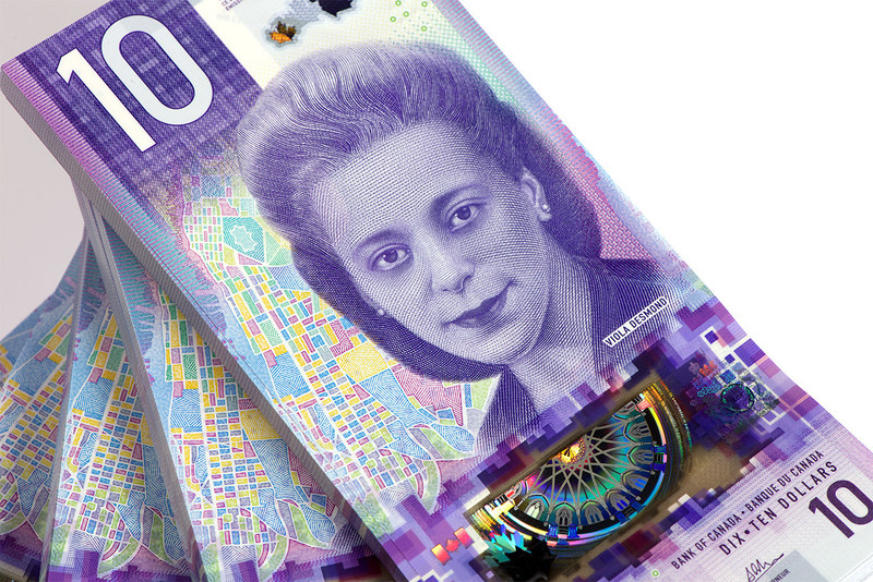 The vertical $10 bank note – featuring Viola Desmond (CNW Group/Bank of Canada)