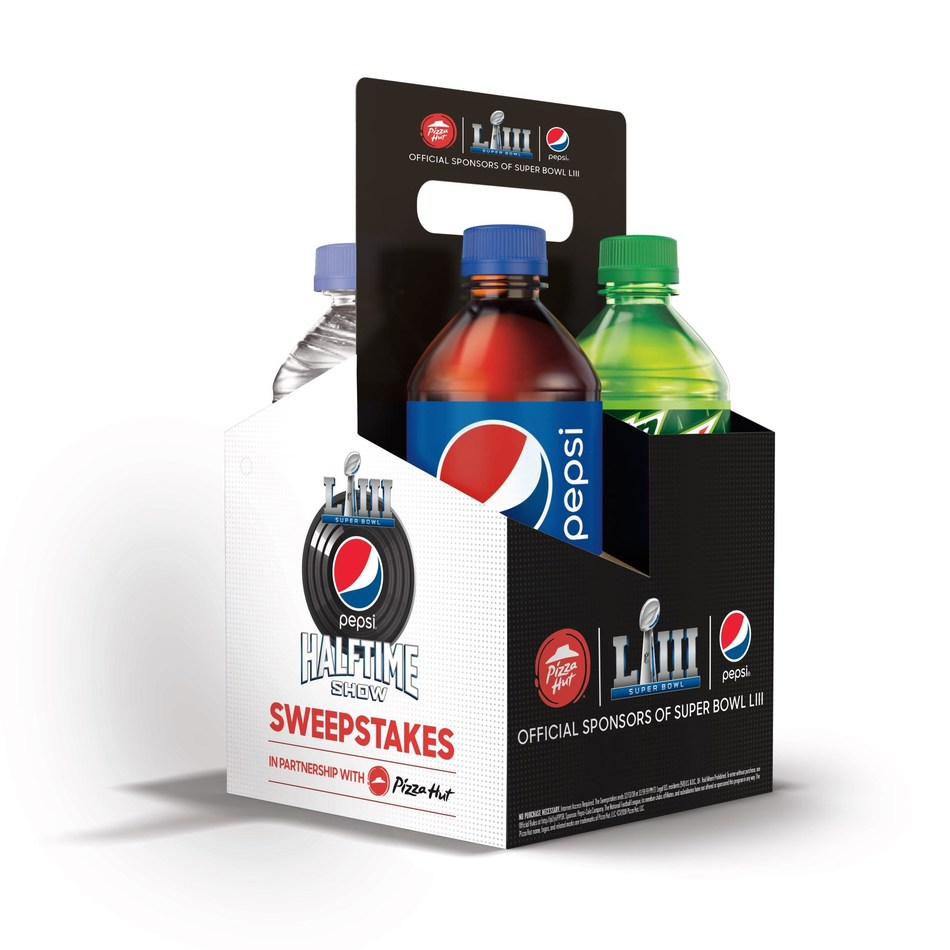 Pizza Hut and Pepsi leverage longstanding partnership and mutual designation as Official Sponsors of the NFL to bring fans the Pepsi Super Bowl LIII Halftime Show Sweepstakes.