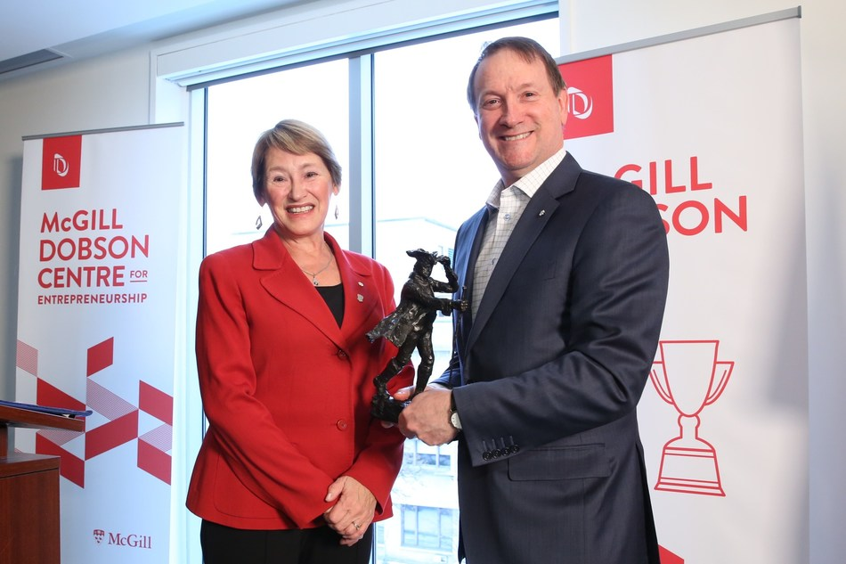 From left to right: Professor Suzanne Fortier, McGill's Principal and Vice-Chancellor and Louis Vachon, president and CEO, National Bank. (CNW Group/McGill University)