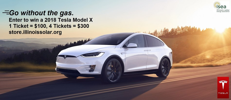 Win a Tesla Model X and support solar energy by entering ISEA's raffle at store.illinoissolar.org