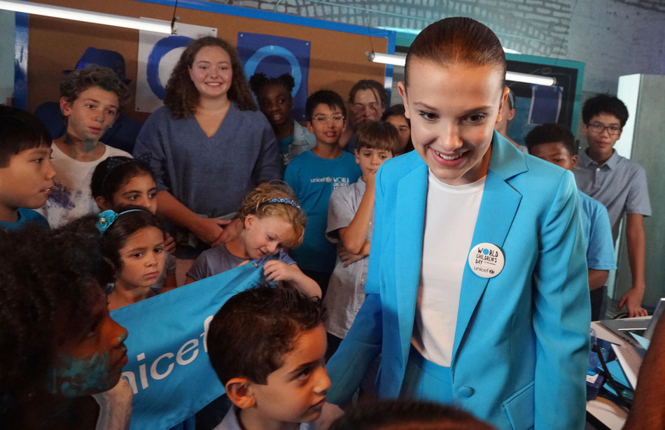 Emmy-nominated actress Millie Bobby Brown has been announced as UNICEF's newest Goodwill Ambassador. © UNICEF/UN0248272/Clarke (CNW Group/UNICEF Canada)