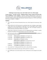 Wallbridge Extends Tabasco Zone with Visible Gold to Over 300 m Depth (CNW Group/Wallbridge Mining Company Limited)