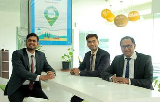 CropIn - Krishna Kumar, Kunal Prasad and Chittaranjan Jena (from left to right) (PRNewsfoto/CropIn Technology)
