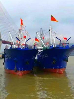 Pingtan Marine Enterprise's New Fishing Vessels depart the port of Fuzhou